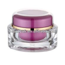 Frasco de creme cosmético acrílico oval para cuidados com a pele