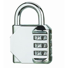 Zinc-Alloy Combination Padlock Chrome Plated (NS8023)