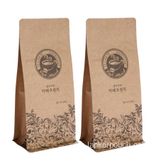 Dengan Valve Custom Printed Packaging Bag Beans Kopi