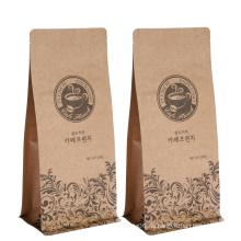 Mit Ventil Custom Printed Verpackung Kaffeebohnen Tasche
