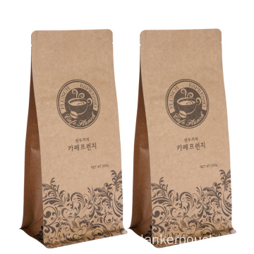 Doypack With Valve Kraft Paper Coffee Bags