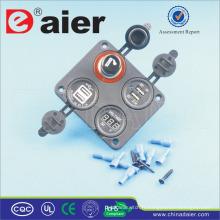 Daier Four Hole Panel voiture allume-cigare prise de courant avec minuterie et chargeur USB