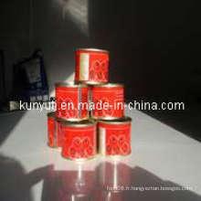 Pâte de tomate en conserve 70 g avec haute qualité