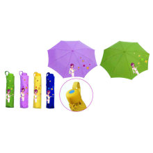 City Girl Print 3 Fold Manual Compact Umbrella (YS-3F21083002R)