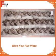 Plaque de fourrure de renard bleu chinois