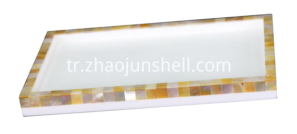 golden mother of pearl tray
