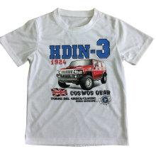 Coche de la impresión de la manera en la camiseta del muchacho para la ropa de los niños con la impresión Sqt-605