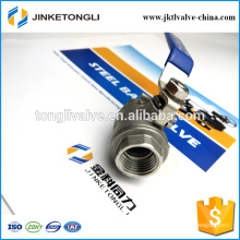 JKTL2B017 2 piece manufacture floating stainless steel isolation ball valve