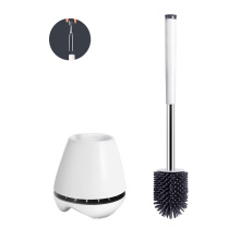 wholesale wall mounted TPR toilet brush with small clip silicone toilet brush and plunger set