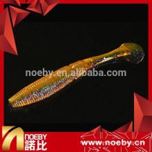 NEW NOEBY ação de natação vívida atraente de cor dupla de iscas de iscas de pesca de plástico macio
