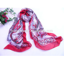 Fashion beautiful chiffon scarf with printing for lady