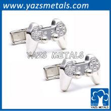 customize metal cufflink, custom high quality game handlecufflinks