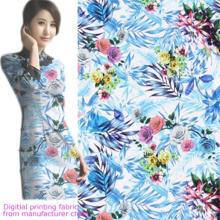 Senhora Vestido Impressão Digital Tecido Rayon