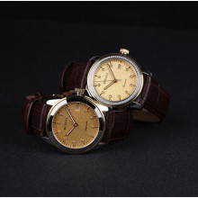 Sapphire Automatic Mechanical Couple Watches Leather Strip