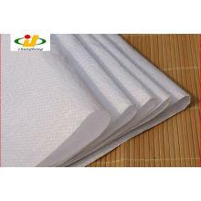 Branco pp saco de arroz tecido 25kg