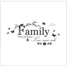 Carta da família Citação Removível Vinyl Decal Art Home Decor Adesivos de Parede
