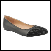 Zapatos de vestir planos nuevos de las mujeres del dedo del pie del diamante (HCY02-1449)