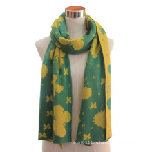 Леди акрил вязаная мода Жаккардовый шарф (YKY4305)