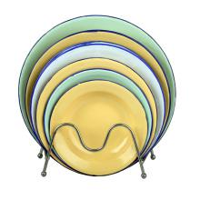 2015 placa de la sopa de los enamelware de la alta calidad 14-26cm