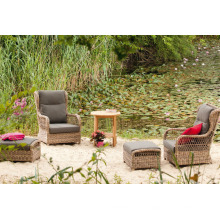 Cadeira de varanda jardim vime do Rattan ao ar livre lazer do pátio