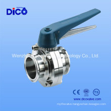 Ce Sanitary Clamp End Butterfly Valve