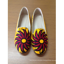 New African Printed Fabrics Fashion Flat Shoes (HCY02-721)