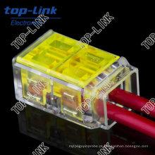 Conectores de fiação de conexão rápida para caixa de junção