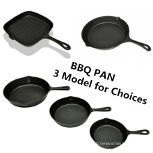 Cast Iron Paella Pans Cast Iron Fry Pan with Wooden Handle