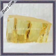 Zirconia cúbica amarilla pálida áspera / materia prima