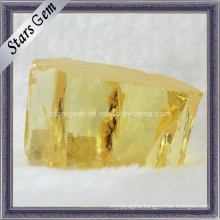 Pale Yellow Cubic Zirconia Rough/Raw Material