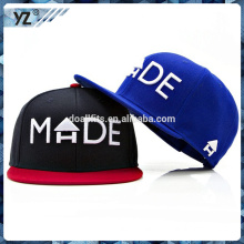 2015 6 panel flat bill custom design with hight quality yupoong good shape & durable snapback cap for team sports
