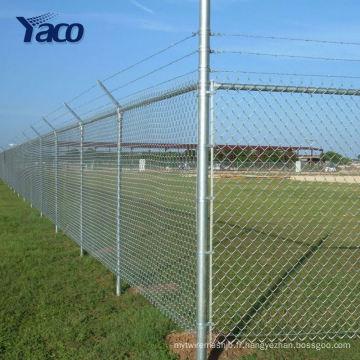 Clôture galvanisée en usine de lien de chaîne 8ft haut pour des terrains de baseball