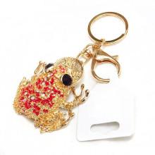Produtos mais vendidos 3D souvenir metal personalizado rã presente keychain atacado