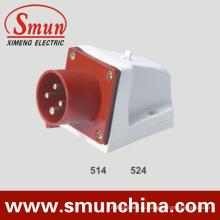 Подключите панель 16/32А 380В IP44 с 4-контактный цве настенного монтажа Разъем