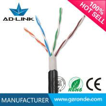 Cobre desnudo cables de red impermeables UTP / FTP / SFTP cat5e al aire libre