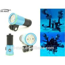 Горячая продажа подводного плавания видео свет 32650 литий-ионный аккумулятор