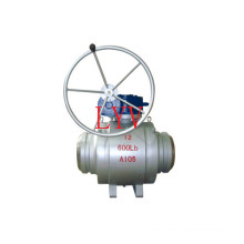 Worm Gear Fully Welded Stainless Steel Ball Valve