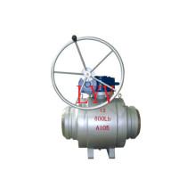 Worm Gear Válvula de Esfera de Aço Inoxidável Totalmente Soldada