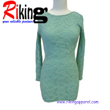 Fashion Ladies Garment Lace Long Sleeve Dress (RKD1363)
