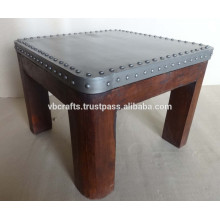 Industrial Style Coffee Table Metal Top and Wood Base