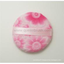 Custom Pink Flocking Baby Powder Puff for Makeup