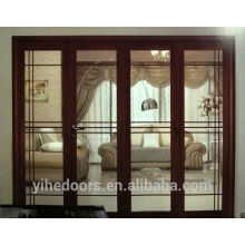 porta de vidro dobrável de alumínio para pátio