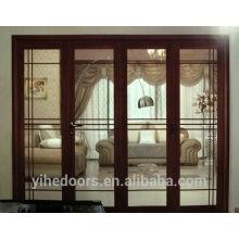 алюминиевая стеклянная складная дверь для патио