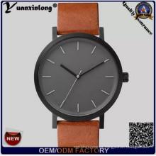 Yxl-316 cuero genuino la marca de fábrica del reloj del caballo mira al por mayor el reloj del negocio de las mujeres de los hombres 2016