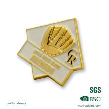 Billige benutzerdefinierte Boxwettbewerb Abzeichen Gold Emaille Abzeichen