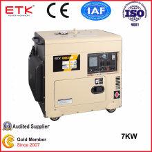 7kw Electrical Start Portable Silent Type Diesel Generator Set