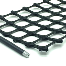 Plastic Polypropylene PP Biaxial Bx Geogrids 20kn 30kn 40kn china road factory price for construction