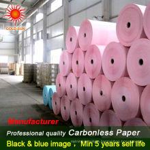 carbonless paper in reel