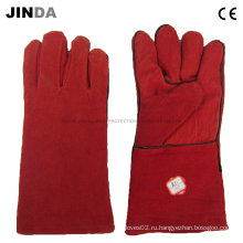 Перчатки для промышленной сварки кожи (L013)