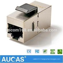 Adaptateur modulaire cat6 FTP RJ45 Prise jack 180 degrés / cat5e module clé en relief à sens unique